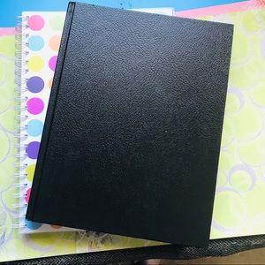 2 large stationary books